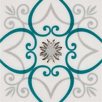 RICCO TURKUAZ T02 Seramik Porselen Dekor