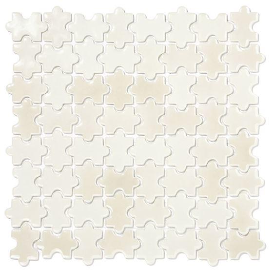 Millenium Puzzle Cam Mozaik /  Puzzle White