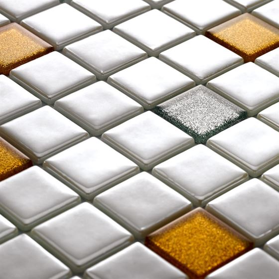 Millenium Simli Cam Mozaik / T-2284 Mercan